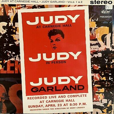 Judy Garland : At Carnegie Hall Vols 1 & 2 : Capital Original Vinyl 1961 • 7£