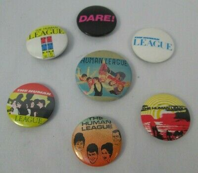 The Human League Vintage 7 X US & UK 1980s Post Punk Synth Pins Buttons Badges  • 9.99£