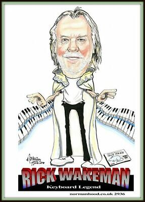 Rick Wakeman Legend Cartoon Portrait • 4.50£