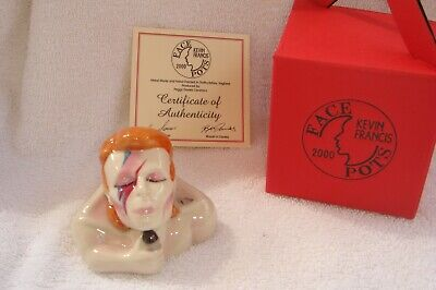 DAVID BOWIE Rare Kevin Francis Face Pot, Boxed, Mint Condition • 39.99£