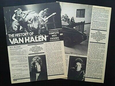 Van Halen Band History Timeline 1982 Vintage 4 Page Magazine Article Clipping • 7.14£