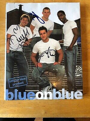 Boy Band Blue Hand Signed Book • 5.99£