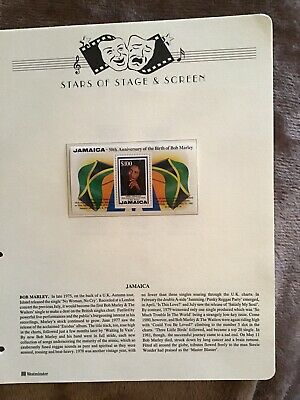 Westminster Limited Edition Stars Of Screen And Stage Bob Marley Jamaica Stamps • 6.99£