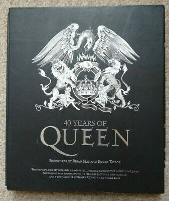 40 Years Of Queen Official Box Set, Hardback Book • 5£