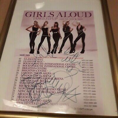 Girls Aloud - SIGNED - Tour Flyer. • 29.99£