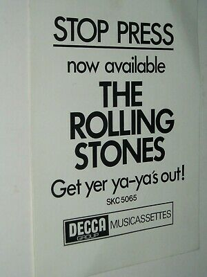 THE ROLLING STONES....shop Advert Flyer..(1970)..Get Yer Ya-Ya's Out • 7.50£