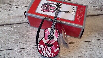 Taylor Swift Music Christmas Guitar Ornament -plays Part Of Red Song • 25£