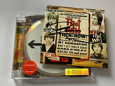The Who - Then And Now Original CD Album (Signed Autographed) By Pete Townshend • 25£