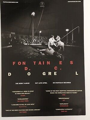 Fontaines D.c. - Rare Promotional Music Poster -  Dogrel Album - Official Issue • 9.99£