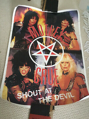 Motley Crue - Shout At The Devil - Rare Poster Tommy Lee Nikki Sixx  • 5£