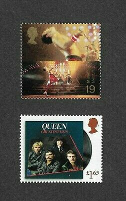 Queen-2020 & 1999 Freddie Mercury Stamps Mnh Great Britain-Rock Music • 8.50£