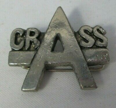 Crass Vintage Original Early 1980s Metal Brooch Badge Pin Button Anarcho Punk  • 9.99£