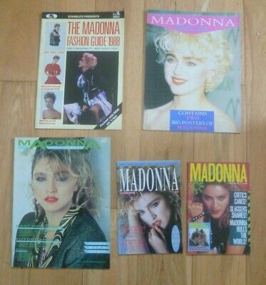MADONNA - LOT OF FIVE EARLY 1980's UK MAGAZINES - RARE - POSTER - FASHION GUIDE • 64.99£