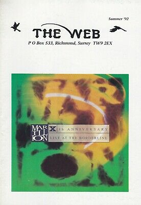 Marillion - The Web Fanclub Magazine Summer '92 • 2.50£