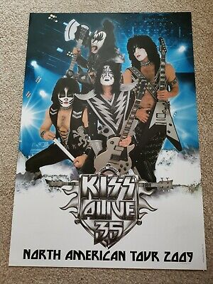 Kiss North American Tour 2009 Alive 35 Poster Meet And Greet Rare • 20£
