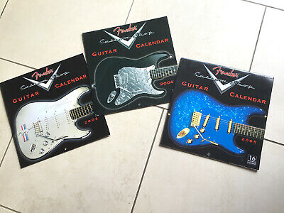 Fender Guitar Calendars, 2002, 2004, 2005, Used. Published By Ronnie Sellers. • 5.50£