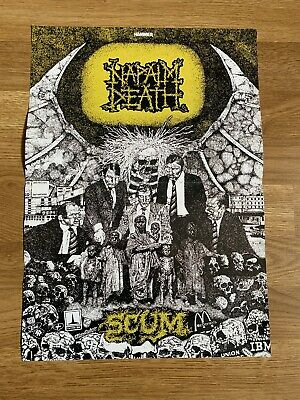 Napalm Death/godflesh - Double Sided Poster - Metal Hammer - Scum Streetcleaner • 0.99£