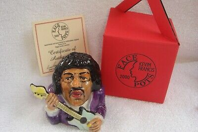 JIMI HENDRIX Rare Kevin Francis Face Pot, Boxed, Mint Condition • 44.99£