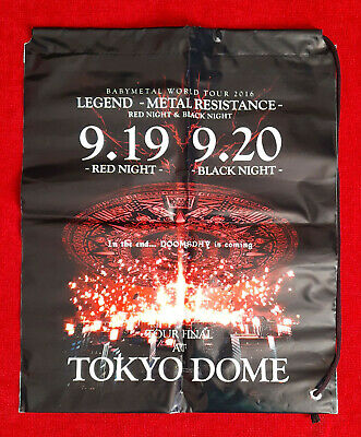 BRAND NEW OFFICIAL - BABYMETAL Tokyo Dome Plastic Carry Bag + FREE UK P&P • 9.50£