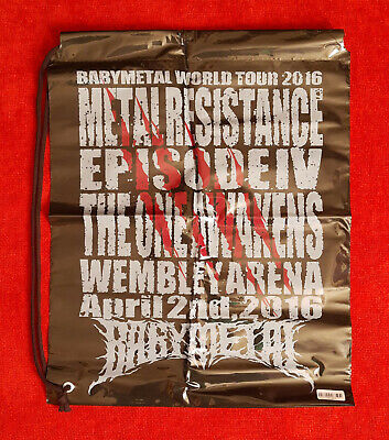 BRAND NEW OFFICIAL - BABYMETAL Wembley Plastic Carry Bag + FREE UK P&P • 9.50£