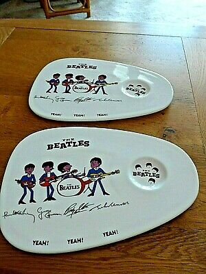 Beatles Porcelain Signature Breakfast Plates X 2. Very Rare. Collectable • 19.99£
