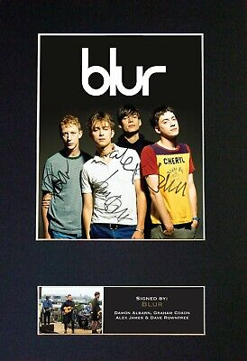 BLUR Mounted Signed Autograph Photo Print A4 #352 • 5.95£
