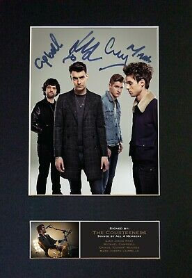 THE COURTEENERS Mounted Signed Autograph Photo Print A4 #543 • 18.99£
