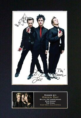 GREEN DAY No1 Mounted Signed Autograph Photo Print A4 #196 • 17.99£