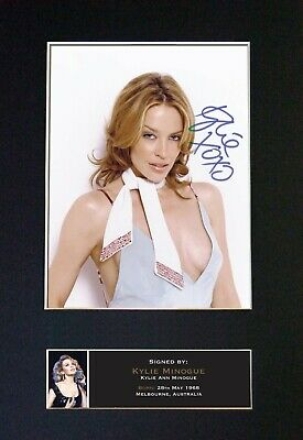 KYLIE Mounted Signed Autograph Photo Print A4 #233 • 5.95£