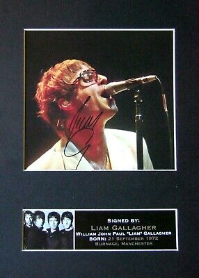 LIAM GALLAGHER Mounted Signed Autograph Photo Print A4 #74 • 18.99£