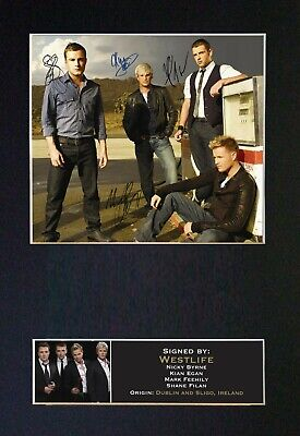 WEESTLIFE Mounted Signed Autograph Photo Print A4 #188 • 5.95£
