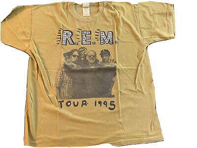 REM Vintage Tour 1995 T-Shirt XL Overdyed Authentic Rare • 107.29£