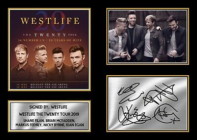 Westlife The Twenty Tour 2019 Signed Autographed Framed Print Gift A4 A3 A2 A1 • 4.99£