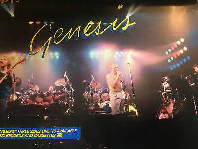 Genesis Three Sides Live  Rare Poster Promo Only 1982 • 35.76£
