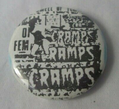 The Cramps US Vintage 1980s 25mm  Badge Pin Button Punk New Wave Psychobilly • 9.99£