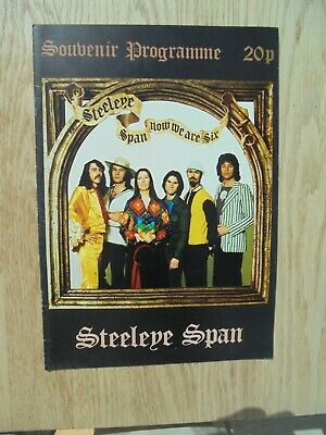 Steeleye Span Now We Are Six Tour Programme • 22.99£