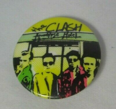 The Clash Vintage Early 1980s  Apocalypse Hotel Badge Pin Button Punk New Wave • 9.99£