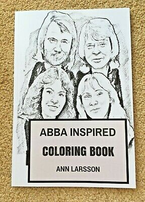 ABBA Inspired Colouring Book By Ann Larsson • 7.50£