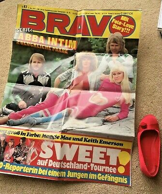 Giant ABBA Poster - Cover Of Bravo Magazine REPRODUCTION • 1£