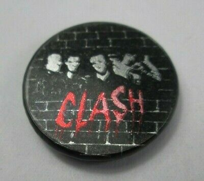 The Clash Vintage Early 1980s 25mm Badge Pin Button Punk New Wave • 9.99£