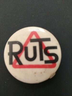 THE RUTS Genuine Vintage  1970s Punk Rock Band Promotional Tin Pin BADGE 32mm • 8.99£