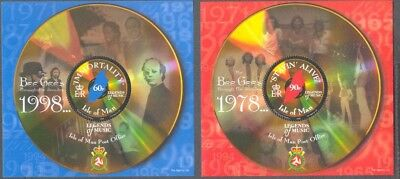 Isle Of Man - BGees 2 Min Sheets Mnh - Music-Official Postage -1999 • 3.95£
