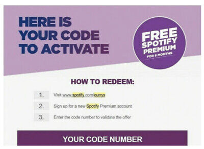 SPOTlFY Premium 6 Months Free Subscription *Code*  (New Accounts) - Currys • 19.99£