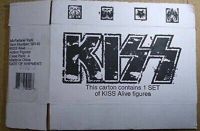 Kiss – Branded Shipping Carton For Kiss Alive Figures Rare • 35£