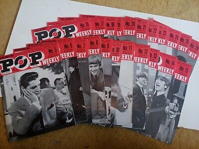 Pop Weekly Magazines, 22 Issues, 1963 • 40£