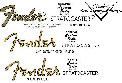 FENDER  Logo - Headstock STICKER  Stratocaster  • 4.95£