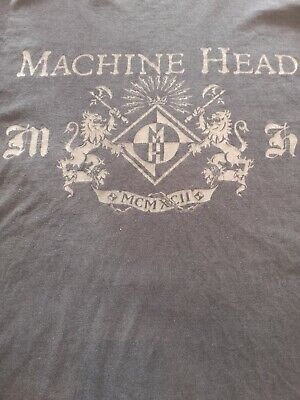 Machine Head Bay Area Kings Rare Vintage T-shirt Coat Of Arms Black Large • 7.99£