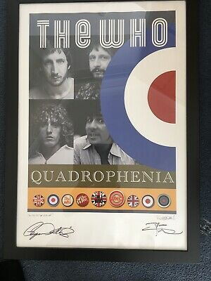 The Who Quadrophenia VIP Signed Lithograph By Roger Daltrey And Pete Townshend • 200£
