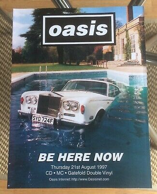 Oasis. Be Here Now. Glossy Card. Advert. Poster. Rare. Free Uk Post • 2.99£