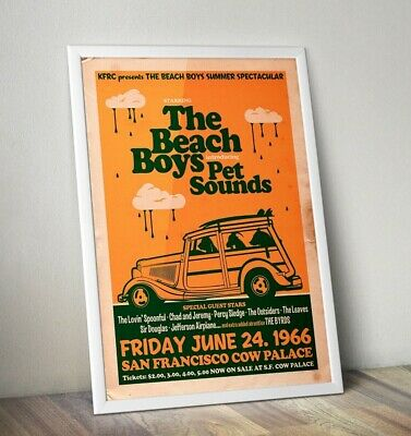 The Beach Boys Poster, Beach Boys Gig Poster, Wall Art, FREE UK DELIVERY • 12.99£